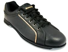 New Mens Brunswick Charger Black Bowling Shoes Size 7-14 Universal Soles RH LH
