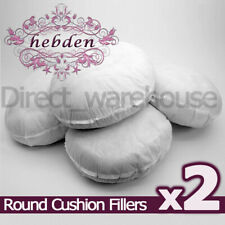 """Pack of 2 Round Hollowfibre Cushion Pads / Fillers / Inserts 16"""", 18"""", 20"""", 22"""""""