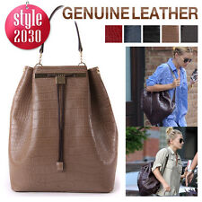 Style2030 New KOREA GENUINE LEATHER BACKPACK Satchel Tote Shoulder Bags [B1196]