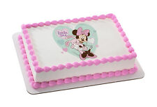 MICKEY & MINNIE - LITTLE ONE EDIBLE IMAGE CAKE/CUPCAKE/COOKIE TOPPER! FREE SHIP!