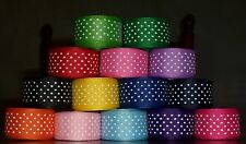 "5 YDS 7/8"" OFFRAY SWISS DOT GROSGRAIN RIBBON 14 COLORS YOU PICK COLOR"