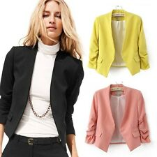 Sexy office women shoulder padding short Candy suit jacket Blazer slim 2013 New