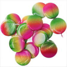 New Gradient Colorful Round Shape Loose Faux Shell Beads Fit Jewelry Making