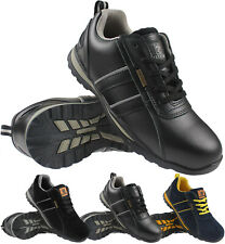 MENS WALKLANDER SAFETY STEEL TOE CAP WORK TRAINERS CASUAL TREKKING BOOTS SHOES