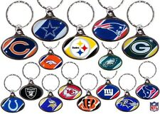 CHOOSE TEAM Key Chain Ring New Official NFL Dome Keychain Keyring