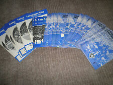 Leicester City home programmes 65-6 to 68-9 Div 1, FAC and friendly