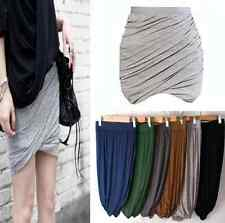 CN-New 2014 Trendy Design Quality Elastic Jersey Mini Twisted & Draped Skirt