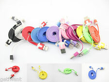 1m/2m/3m Flat USB Sync Data Cable Charger Cord for Samsung Galaxy S S2 S3 i9500