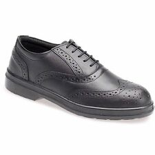 Capps Safety Work Shoes Mens Brogues Steel Toe Cap Leather
