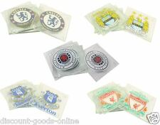 OFFICIAL MERCHANDISE CLUB CREST 4 PACK GLASS DRINKS COASTERS FOOTBALL GIFTS