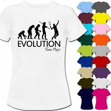 Evolution Of A Tennis Player Womens Ladies T-Shirt