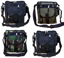 Mens Military Combat Army Travel Shoulder Bag Surplus Messenger Tote Zip Pouch