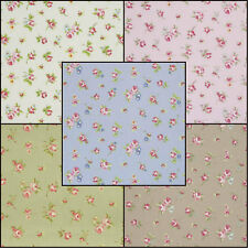 ☆Clarke and Clarke Rosebud Designer Curtain Upholstery Fabric £7.99/m 5 Colours☆