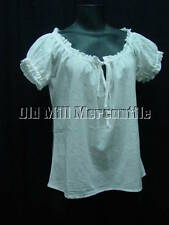 Victorian style camisole corset cover 100% cotton peasant blouse sizes S-XL