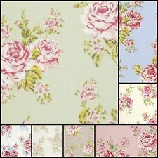 Clarke & Clarke Flora Cotton Designer Curtain Upholstery Fabric Material £7.99 m