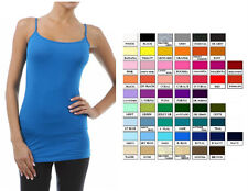 NEW LONG LEAN LAYERING TUNIC COTTON SPANDEX CAMI CAMISOLE TANK PLUS XL 2XL 3XL
