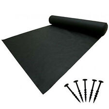 Weed Cover + Pegs Mulch Ground Membrane Control Garden Soil 1m 1.5m 2m 2.4m 3m