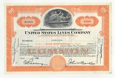 William Vincent Astor - United States Lines Company Stock Certificate