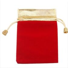 8/40pcs Hot Beautiful Charms Red & Black Velvet Wedding Pouch Gift Bags 125x93mm
