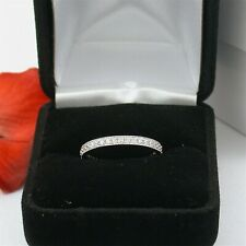 1 CARAT .925 STERLING SILVER ROUND CUT ETERNITY RING BAND FREE RING BOX