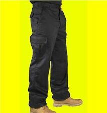 "Mens Cargo Combat Work Trousers Pants With Knee Pad Pockets Black 30"" - 40"" ****"