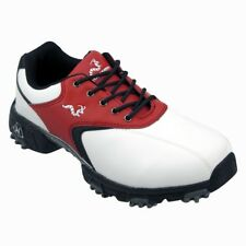Woodworm Junior Golf Shoes Youth Red/Black/White 1 Year Waterproof Warranty