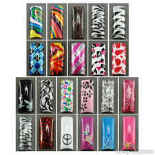 Designer Air Brushed French Nail Tips in 10 sizes - Selection C