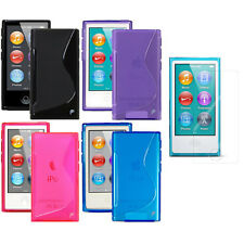 Color Hard Plastic Gel Skin Case Cover For iPod Nano 7 7th Generation 7G 7 2in1