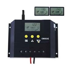 Adjustable LCD 60A 30A 12V/24V Solar Panel Battery Charge Controller Regulator