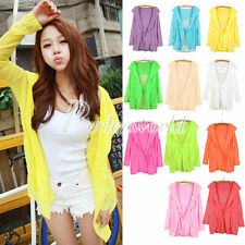 Hot Women Summer UV Against Sunscreen Sun Protection Hooded Cardigan Blouse Tops
