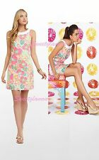 $178 Lilly Pulitzer 47756 Darcy Multi Ice Cream Social Floral Shift Dress