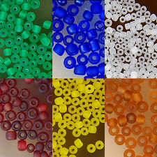 Wholesale 8500pcs 1.8x2mm Frosted Glass Seed Spacer Beads Pick Color
