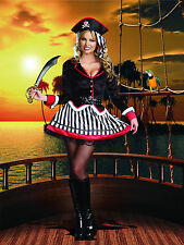 Sexy Adult Halloween DreamGirl Women's Treasure Me Pirate Costume w Hat