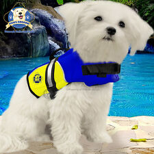 Paws Aboard XX-Small Neoprene Dog Life Jacket Vest Blue Yellow 2-6 lb XXS NEW!