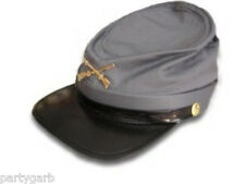 Civil War Confederate Rebel Soldier Costume Hat Calvary Gray Kepi Can Southern