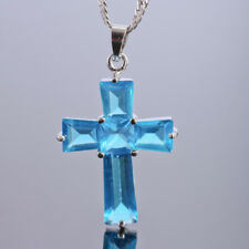 Wedding Jewelry Cross Cut White Gold Plated Pendant Necklace