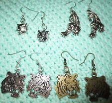 Go Tigers! Tibetan Silver SEC Tiger Earrings Auburn Clemson LSU Missouri Mizzou