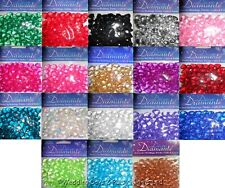 1020 Heart Diamante Crystals Wedding/Engagement Party Table Confetti Decorations