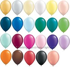 "100 Qualatex 5"" Pearl Decorator Balloons Wedding Birthday Christening Party"