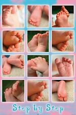 New Step By Step Baby Feet Poster