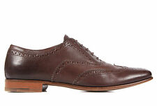 PRADA MEN'S CLASSIC LEATHER LACE UP LACED FORMAL SHOES NEW BROGUE BROWN  FB7