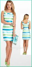 $288 Lilly Pulitzer 47442 Henley Multi Corded Organza Stripe Bow Neck Dress