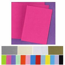 120mm x 170mm Invitation Cards 20 Bifold 5x7 Smooth Flat and Metallic variations