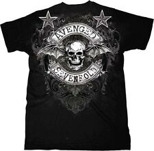 AUTHENTIC AVENGED SEVENFOLD STARS FLOURISH MUSIC ROCK BAND SHIRT S M L XL 2XL