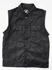 OUTLAW BIKER MOTORCYCLE VEST WITH GUN POCKETS