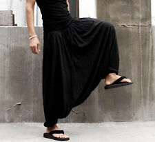 Newest Men's Black Fashion Special Loose Cozy Casual Harem Pants Trousers 3 Size