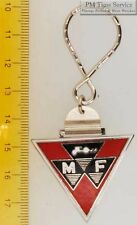 Sturdy key chain with a triangular silver-toned Massey Ferguson shield