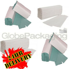C-FOLD PAPER HAND TOWELS GREEN / WHITE ALL QTY'S CFOLD