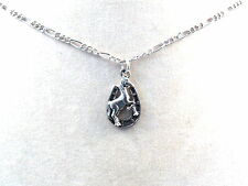 Pewter Horse in Horseshoe Charm on a Silver Tone Figaro Chain Necklace