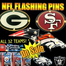NFL Lightup Flashing LED Pendant Necklace *Choose your NFL Team!* -FREE SHIPPING